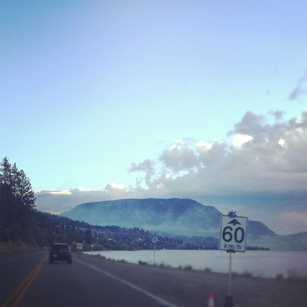 Smoke on the water as you drive into peachland fire zone