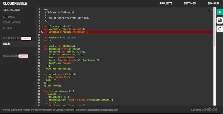 My weekend experiment - PebbleJS